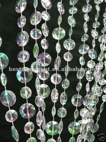Multi Diamond Cut Acrylic Crystal Beaded Curtain