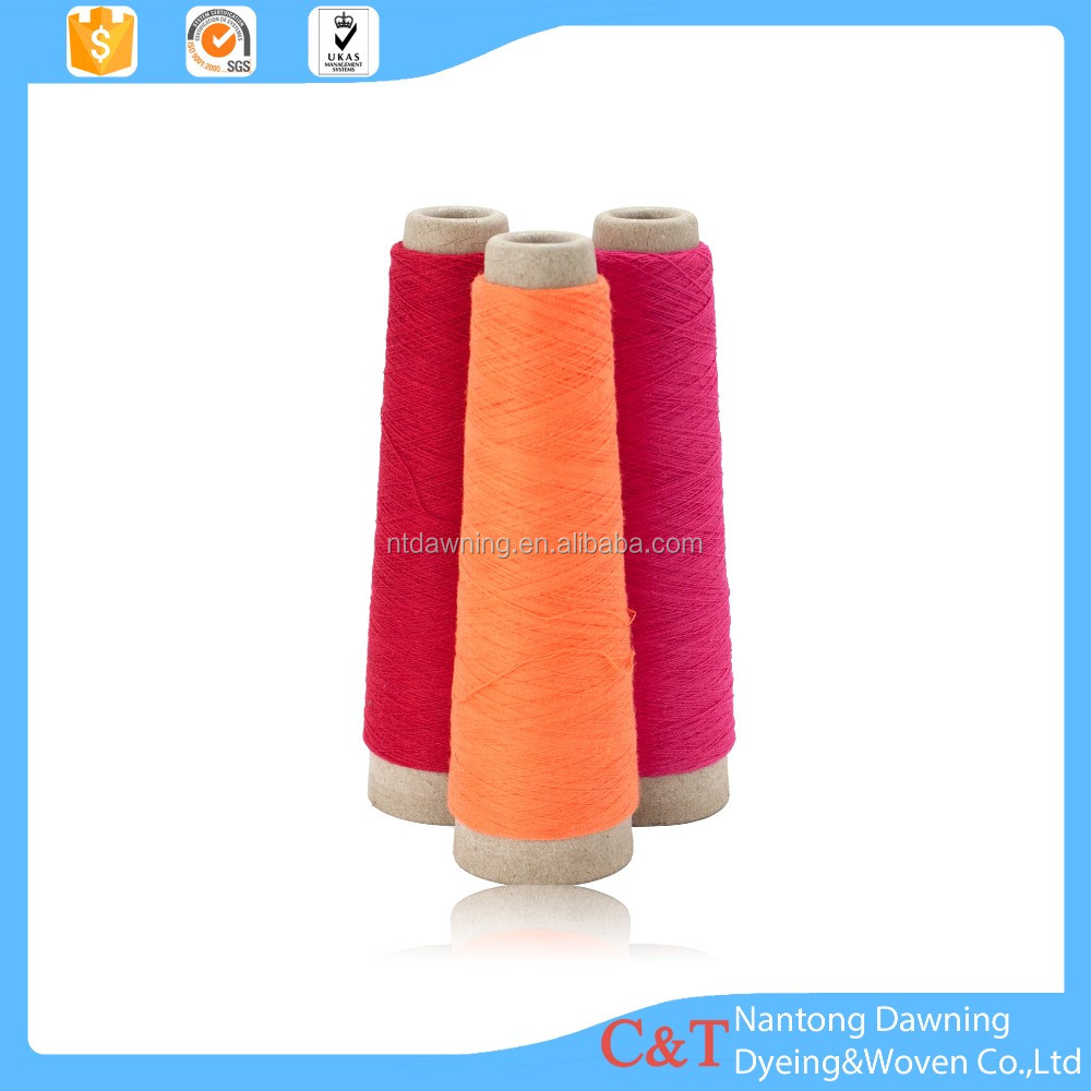 100 open end polyester dyed yarn from China