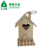 Craft carved decorative outdoor wooden bird cage wood Pet House