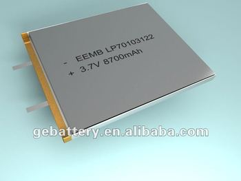 Lithium polymer battery 8700mAh LP70103122
