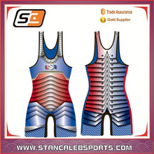 Stan Caleb Lycra Custom High Cut School Wrestling Jersey cheap price fashion design sublimated wrestling singlets jersey