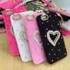 Bling Rhinestone Diamond Fur Mobile Phone Case Cover for iPhone 6, Winter Rabbit Fur Cell Phone Case for iPhone 6