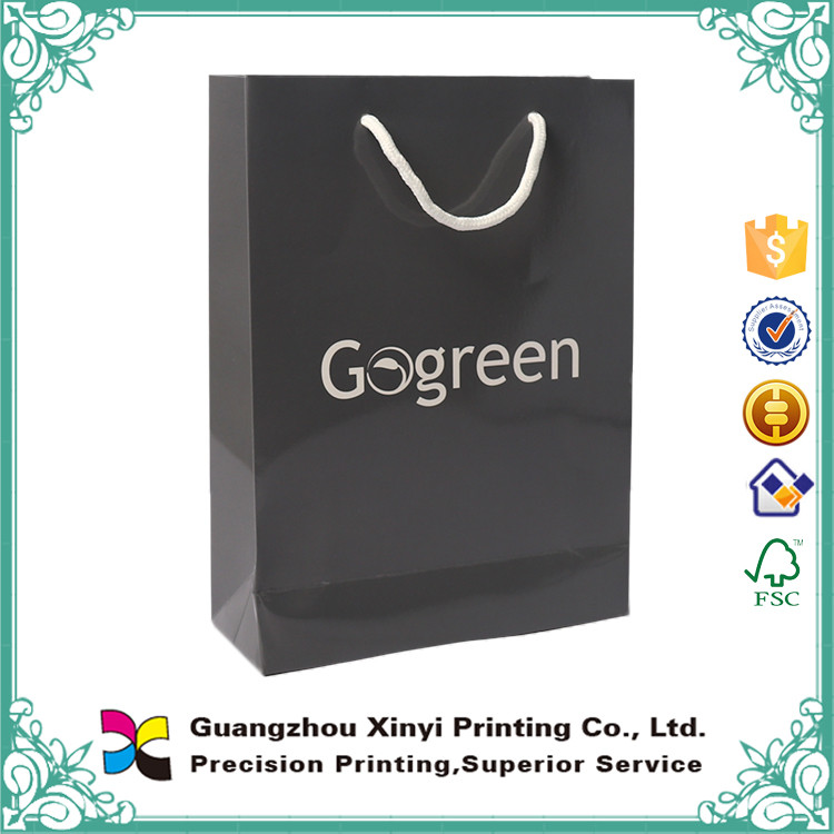 Cheap Black Cosmetic Commercial Paper Bag Design