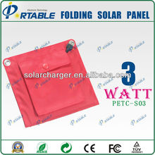 3W mobile solar charger/Solar mobile phone charger/Protable solar charger