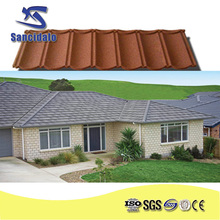 Zinc-aluminum coating and stone chip light weight stone coated metal roofing tile, steel tile sheet, metal roof prices