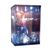 "MB-4A LED Light House Acrylic Case for 18"" 1/4 Scale Action Figure Figurine LED Light Display Case"