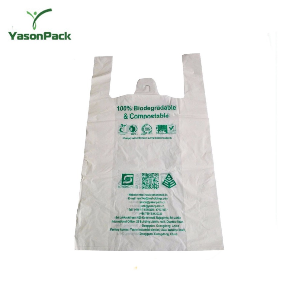 Can print logo original ecological degradation corn starch plastic bag