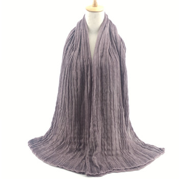 2017 women fashion cotton dirty dye solid color maxi size crinkle shawl scarf hijab