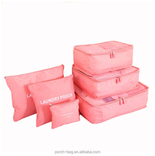 Travel Packing Cubes Nylon Organizers value 6pcs Set storage bags