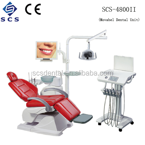 SCS Electric Dental Chair Unit/ Luxurious LCD Monitor Intraoral Camera Dental Chair