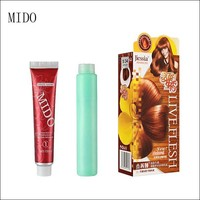 Fragrant fruit cream form permanent copper brown hair color