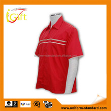 100% Cotton Design china made short sleeve red mens lightweight cotton shirts
