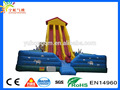 Top high middle climb step pvc adult Double lane giant inflatable slide