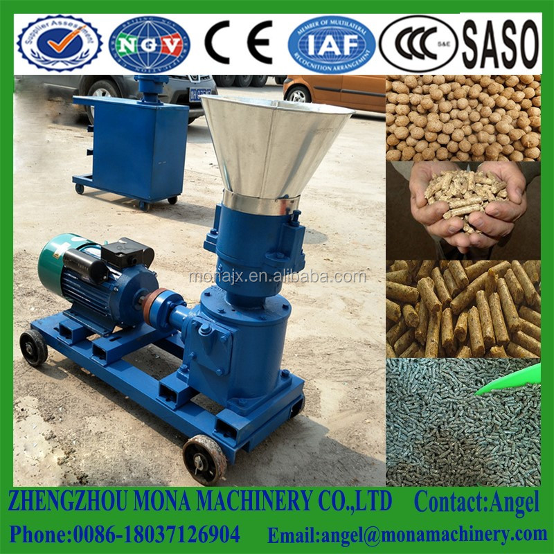 Hot selling pigeno rabbit cat dog chicken mini flat die electric animal feed pellet making machine
