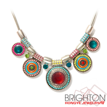 Indian choker statement necklace N1-49559-5360