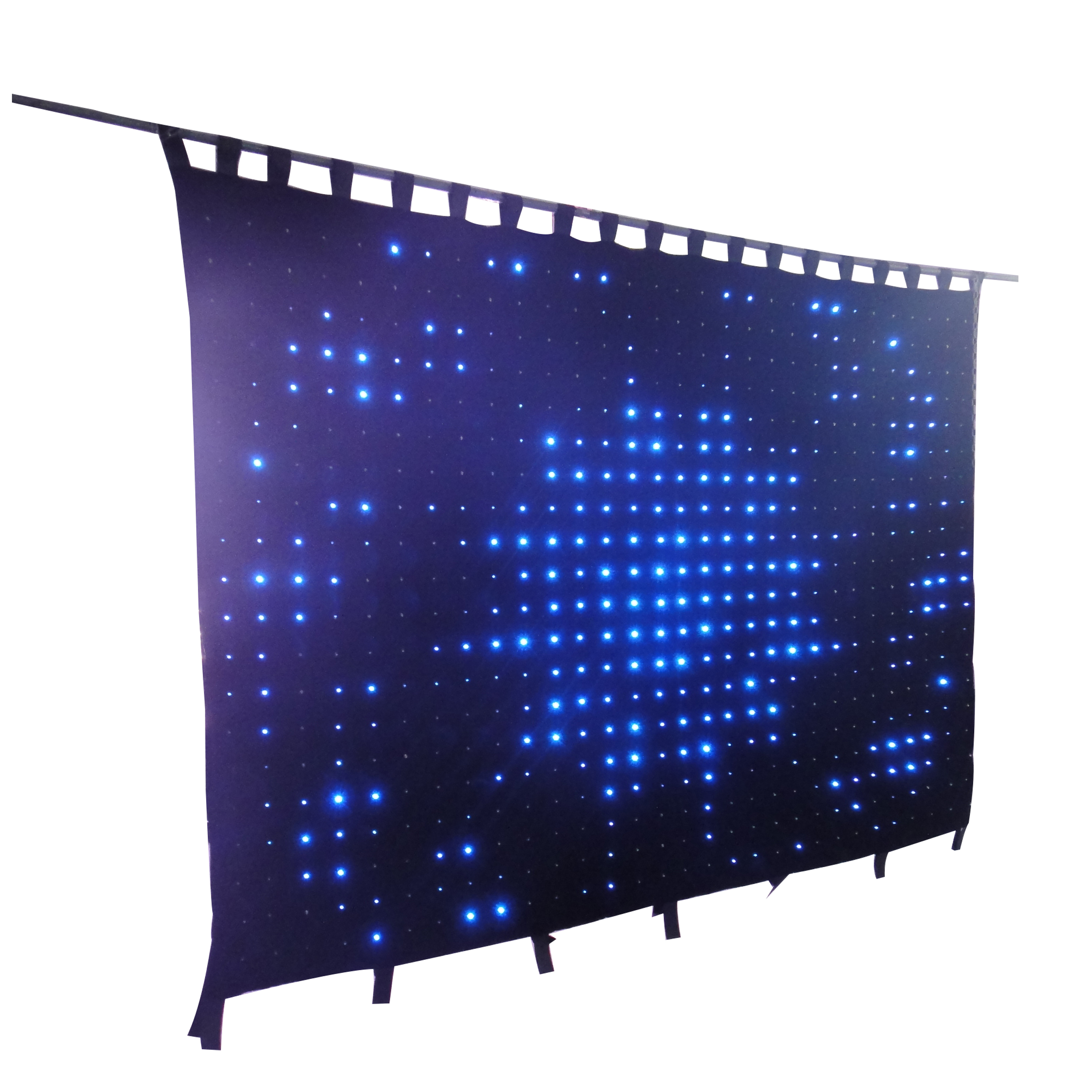 LED Video Curtain Cloth With Fire Retardant <strong>P10</strong> For Birthday Christmas Party Wedding Stage Backdrop