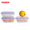 glasslock easy cleaning carying BPA free glass baby food lunchbox