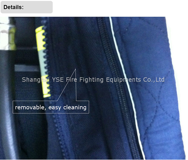 navy blue fire resistant aramid 4 layer fireman tunics reflective tape suit