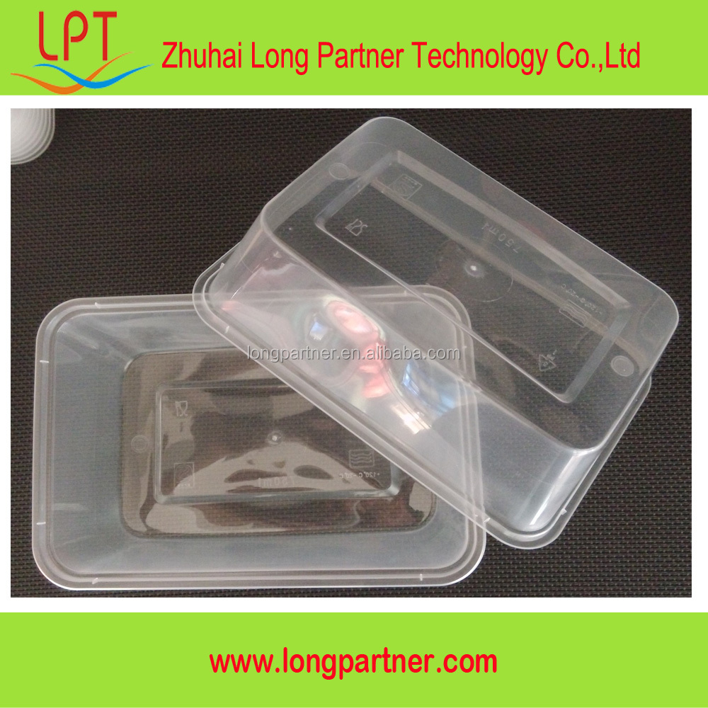 alibaba china 750ml plastic disposable takeaway food pack / ready made food packs