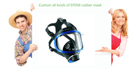Custom all kinds of EPDM rubber mask/vizard mask/veil/visor/vizor/face mask