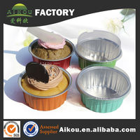 Colorful disposable aluminum round cake pans disposable