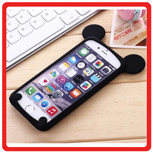 soft silicone Material colorful 3D cartoon Mickey mouse ear phone cover For iphone5 6 6s 7 plus cases