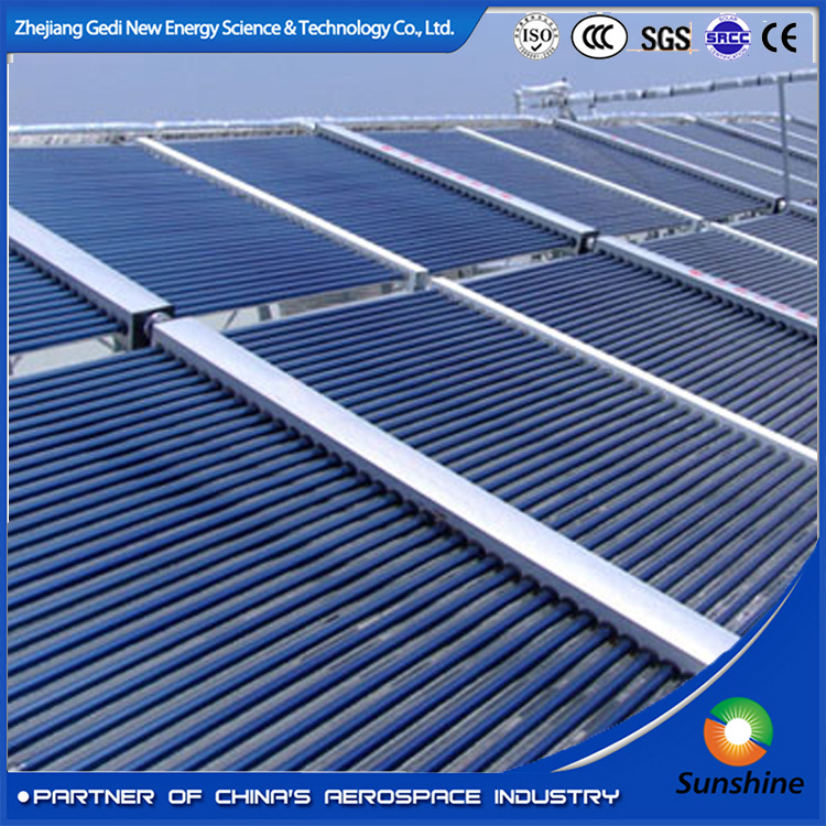 High Efficiency Non Pressurized Vacuum Tube Project Solar Collector For residential/commercial/hospitality/swimming pool