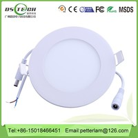 Ultra thin Round plastic led light 12v for home easy install