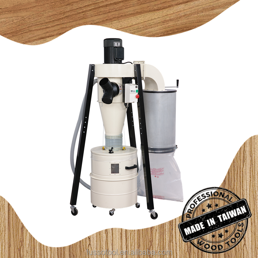 1.5HP Wood Dust Cover, Portable Cleaner Cyclone With Dust Bag