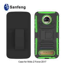 For Motorola Moto Z2 Force 3-in-1 Abrasion Resistance Kickstand Case
