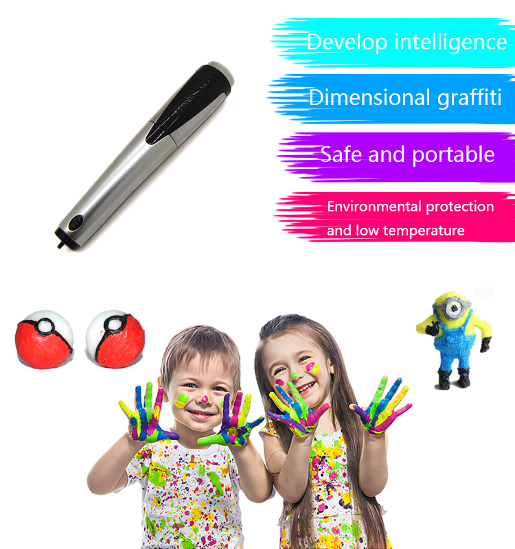 High Quality Educational Toy 3D Printer Pen Magic Drawing Pen for Kids as Gift