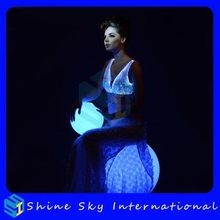 Durable Cheapest Optical Fiber Luminous Wedding Dress