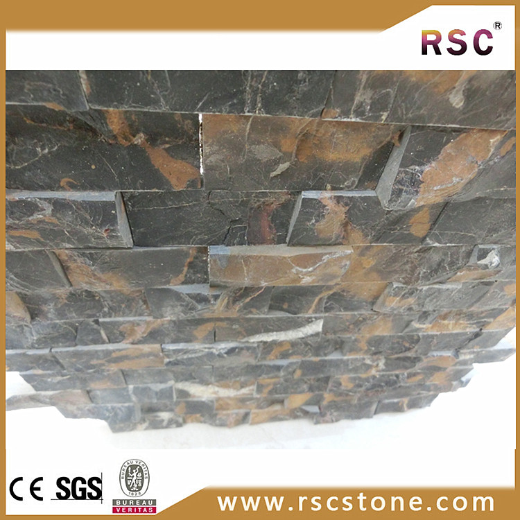 Marble Floor Construction : Construction materials black gold marble flooring mosaic