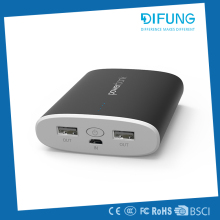 Alibaba top selling portable funny ROHS 2 usb port hook 10000mah external battery power bank CE with great price