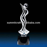 Custom new design dancing crystal trophy and awards