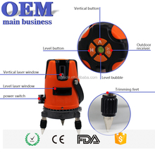 Best oem red 5 lines 6 points laser rotary level with straight line