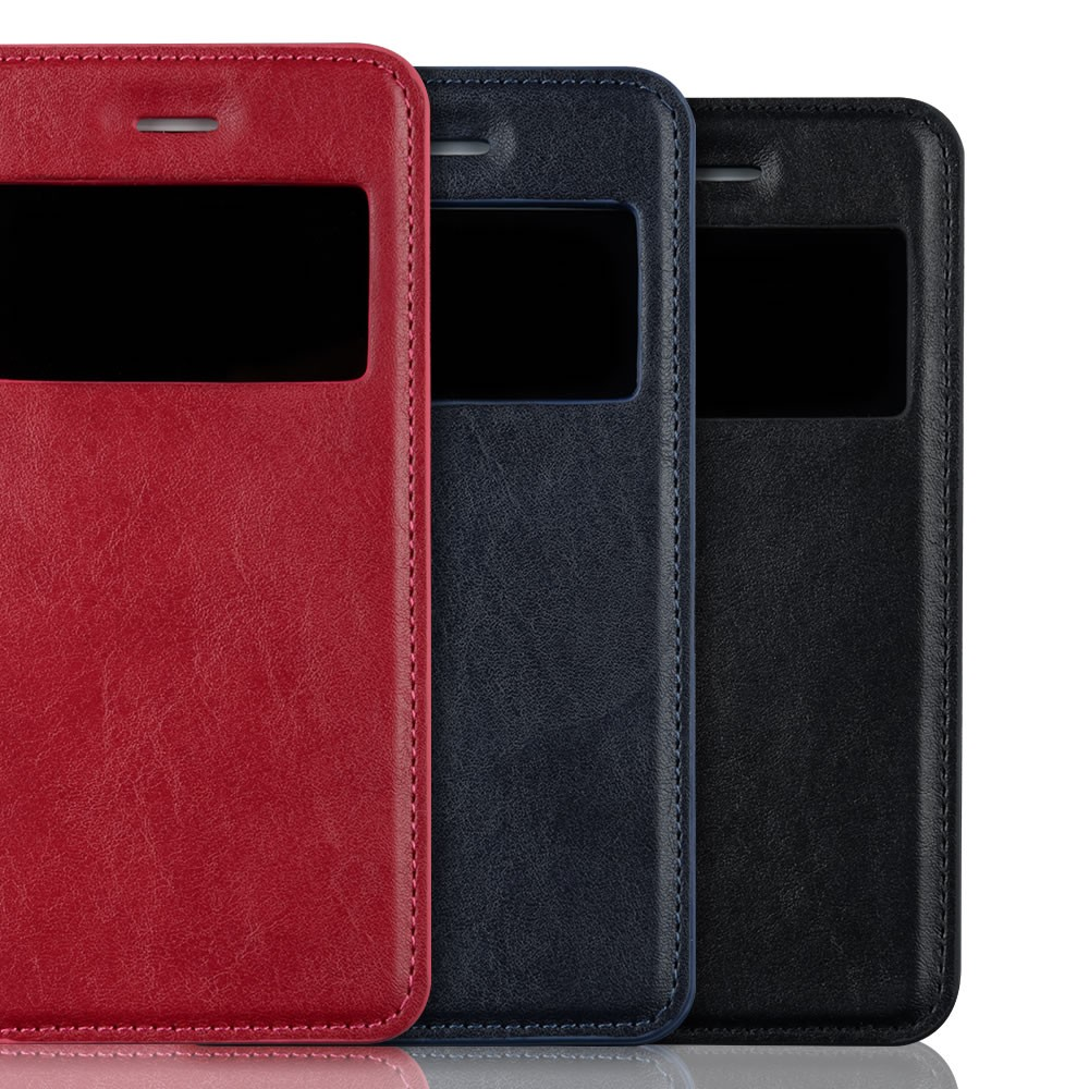 C&T Pure Window PU Leather Flip Folio Case for iPhone 6 4.7""