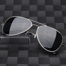 Mirror UV 400 Lens Protection Cheap Metal Pilot Polarized Sunglasses for Men Women