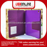 High Quality Folio Style Magnetic Leather Case for ipad Mini