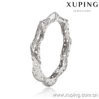 51182 Xuping 19g white gold diamond bangle with weight,indian bangle stand,brazilian jewelry