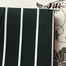 chef kitchen uniform workwear apron black and white stripe printing twill polyester cotton fabric