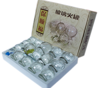 Hot Sell Chinese Glass Vacuum Cupping/Glass Cupping Set/15 pcs cups per Box