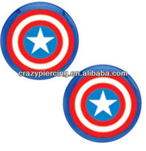 Captain America Cheater Plugs Set 316l stainless steel New Arrival fake ear expander