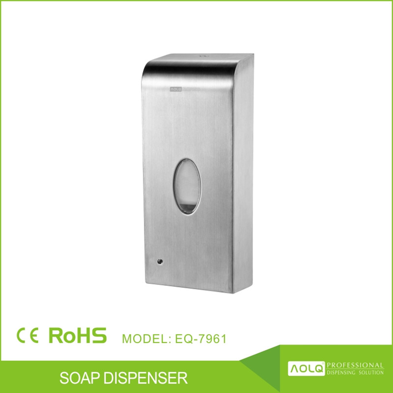 2016 1000ml 304SS Washroom hygiene wall mounted foam soap dispenser/0.8ml foam factory price automatic soap dispenser
