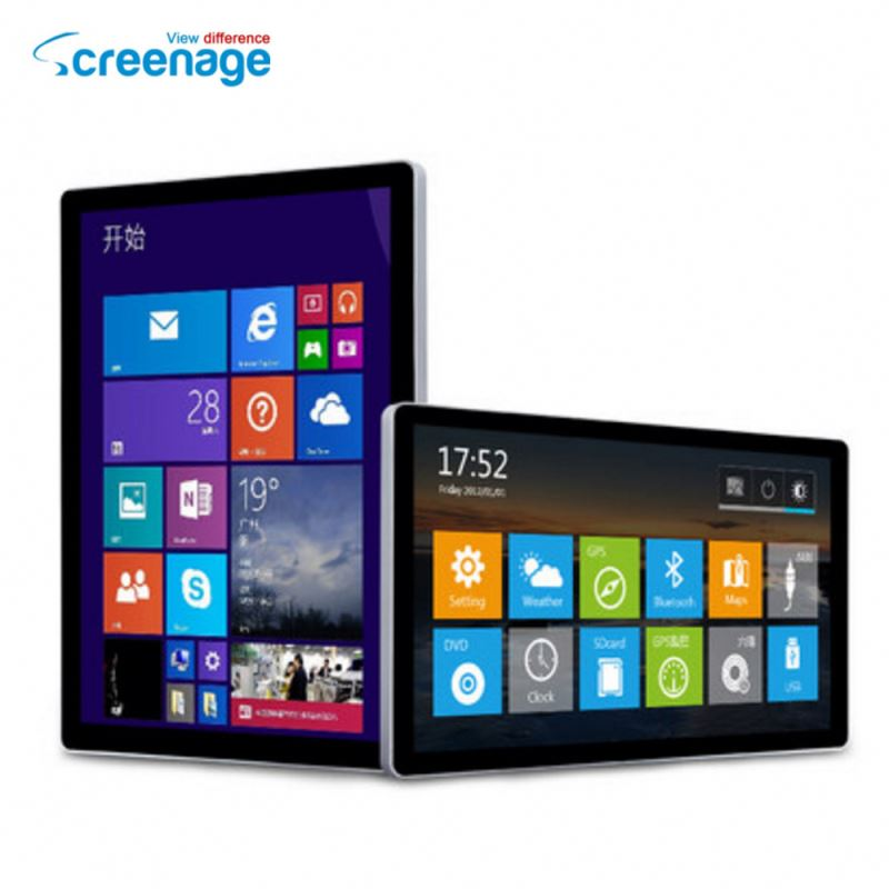 "21.5"" inch 10 point Capacitive touch screen ultra thin cheap All In One pc"