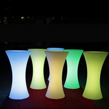 Outdoor waterproof light up plastic bar counter for nightclub