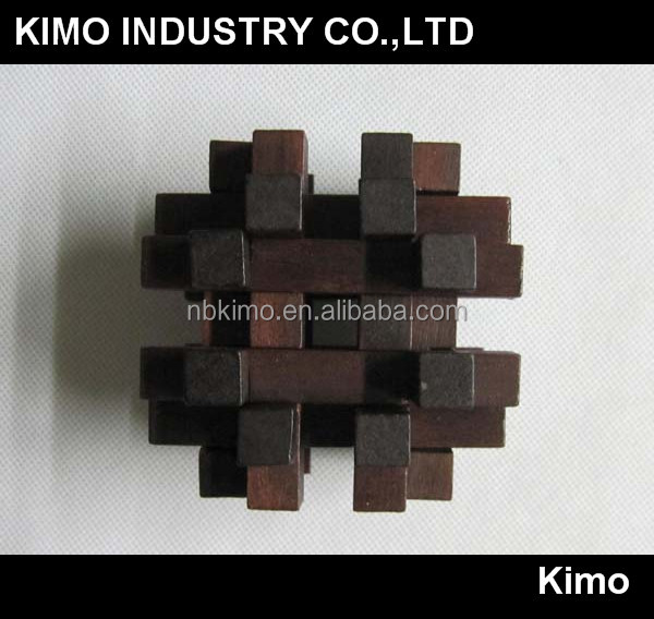 Hot selling wooden game cube (KM-6126)
