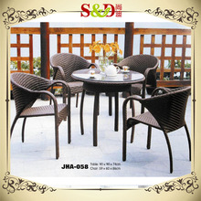SD Rattan/ wicker weaved outdoor patio wicker table and chairs