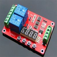 2 Channel 12V Relay Module Self-lock Cycle Timer PLC Home AutomationDelay Module