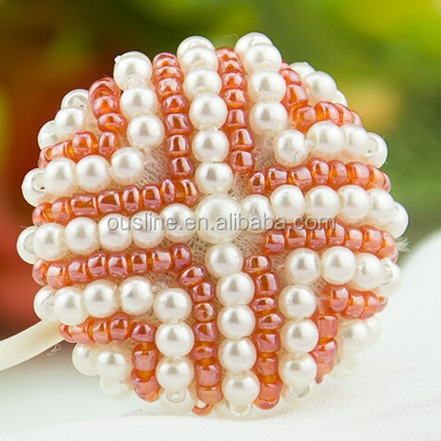 new fashion orange pearl buttons bulk